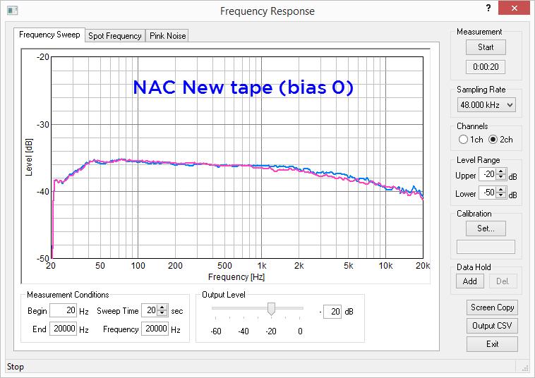 NAC new tape TEAC 8030 Bias 0 edit