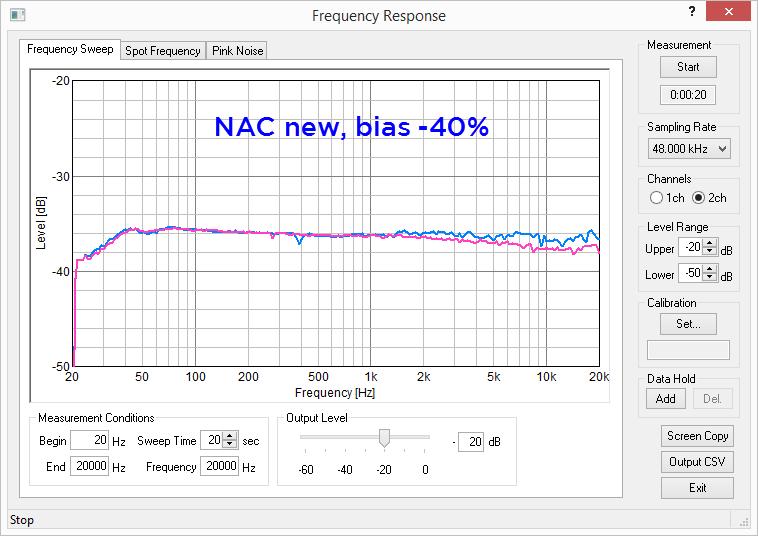 NAC new tape TEAC 8030 Bias -4 edit